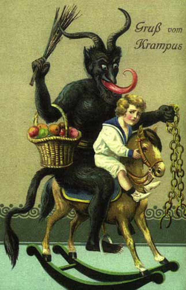 Krampus likes the pony rides!