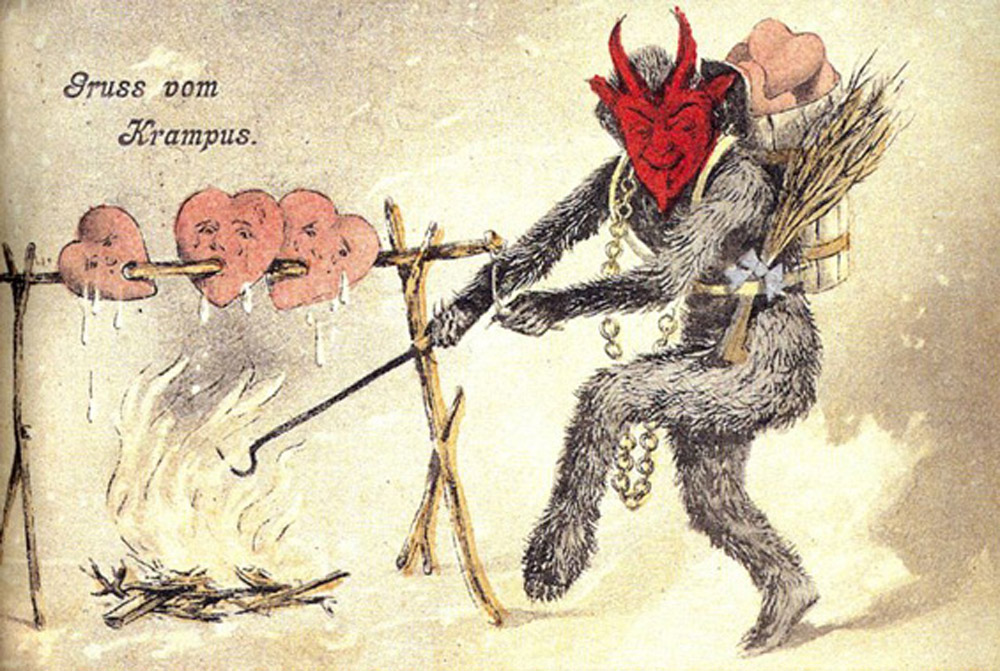 Krampus also enjoys Bar-B-Q