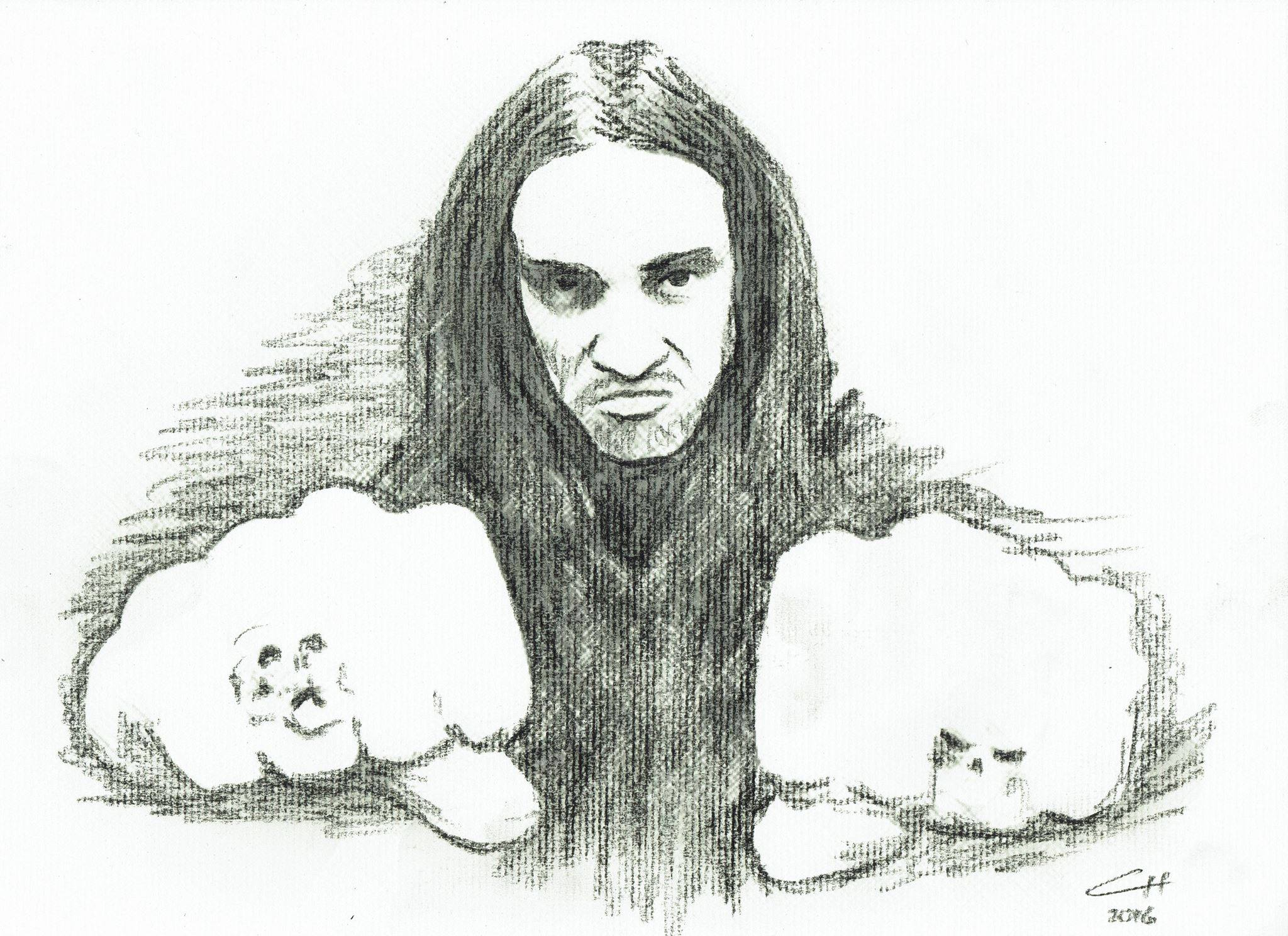 Cliff Burton - Charcoal