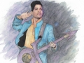 Prince (Super Bowl Show) - Watercolor and Ink