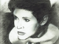 Carrie Fisher - Charcoal