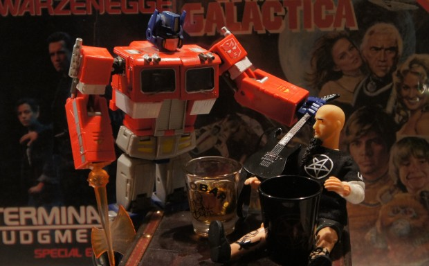 If only drunken Scott Ian and Optimus were there to protect me...